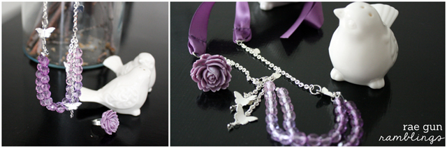 Make your own ombre necklace from craft store supplies. Tutorial at Rae Gun Ramblings