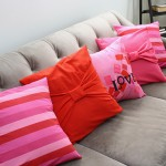 Valentine's Day Pillow case tutorial. Easy 30 minute home decor sewing project