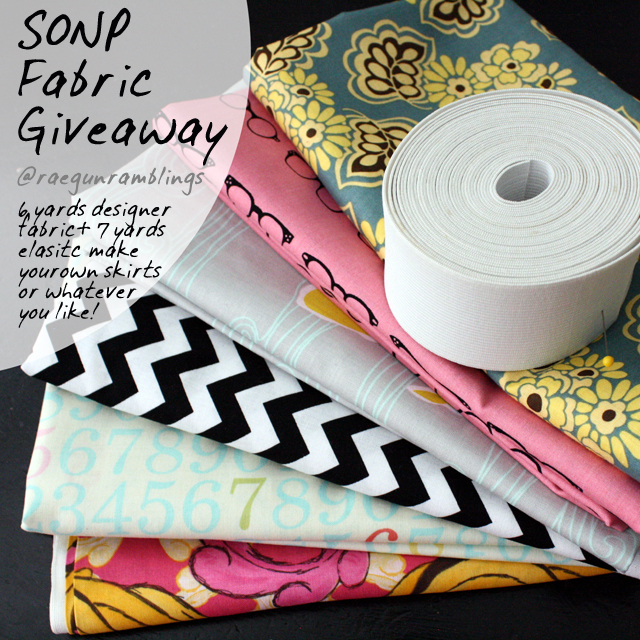 Designer Fabric Giveaway at Rae Gun Ramblings