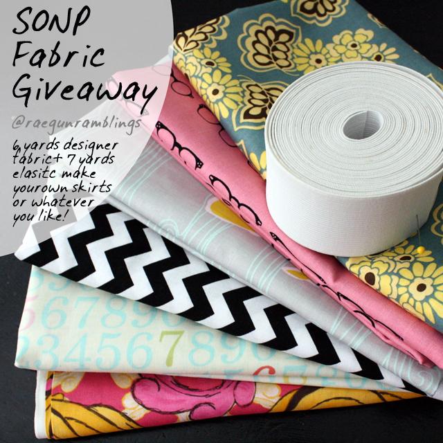 Designer Fabric Giveaway at Rae Gun Ramblings