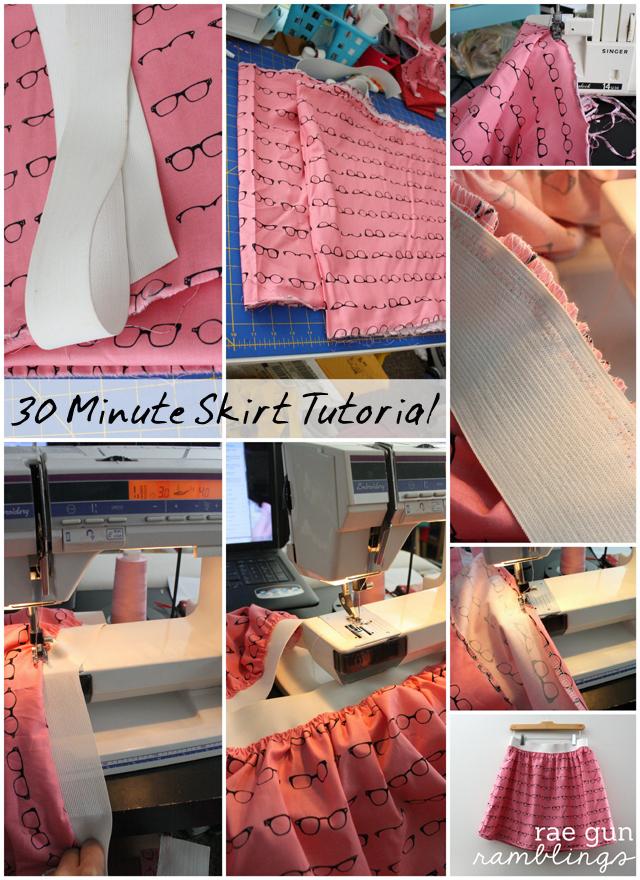 30 Minute Skirt Tutorial using just 1 yard of fabric at Rae Gun Ramblings