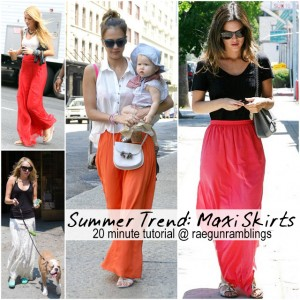 20 Minute Maxi Skirt Tutorial at Rae Gun Ramblings