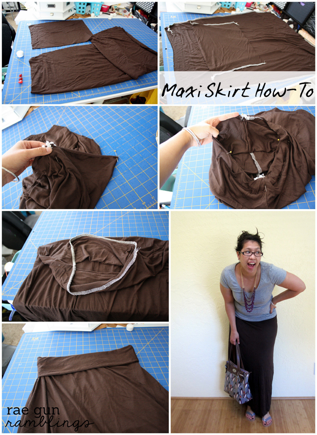 quick maxi skirt tutorial at rae gun ramblings