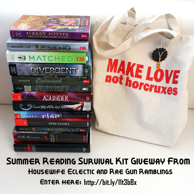 huge summer reading survival kit giveaway from Rae Gun Ramblings and Housewife Eclectic