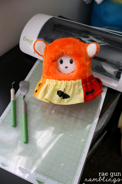 Use the Cricut to make a cute bug skirt for the Ubooly interactive toy - Rae Gun Ramblings