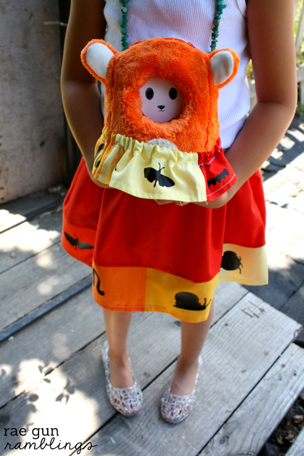 Cute and easy bug skirt tutorial for girls and stuffed animals - Rae Gun Ramblings