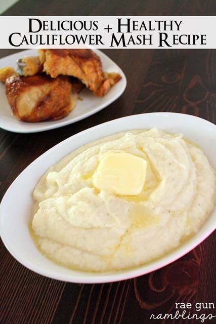 The best cauliflower mash recipe. A delicious and healthier alternative to mashed potatoes. So so yummy and delicious - Rae Gun Ramblings