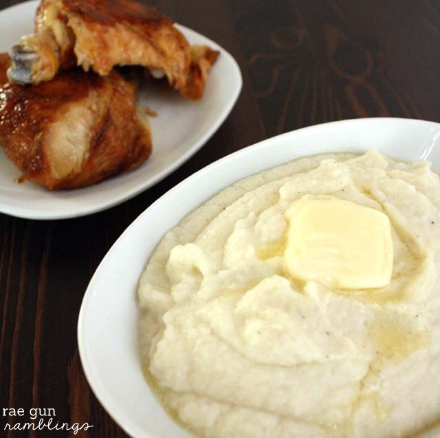 My new favorite side Cauliflower Mash so much healthier than mashed potatoes and delicious too - Rae Gun Ramblings