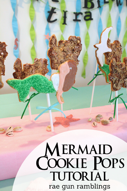How to make cute Mermaid cookie pops - Rae Gun Ramblings