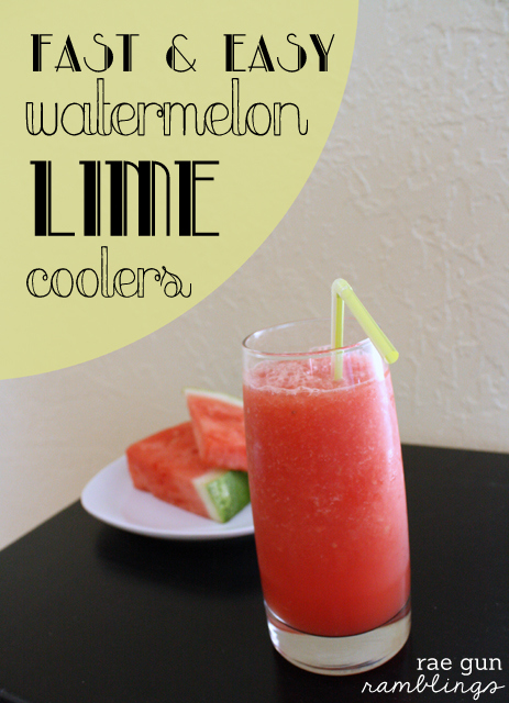Super yummy watermelon lime cooler recipe - Rae Gun Ramblings