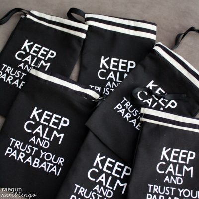 Keep Calm and Trust Your Parabatai Bag Tutorial for The City of Bones Movie