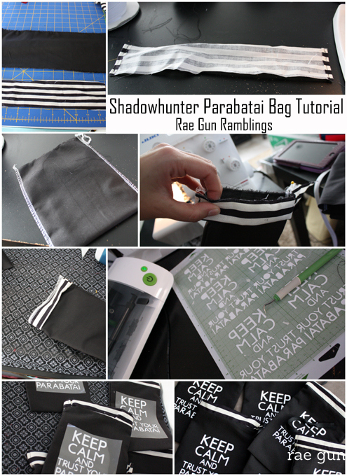 How to make your own #shadowhunter parabati pouches for your favorite book nerd or #cityofbones movie lover #yalit - Rae Gun Ramblings
