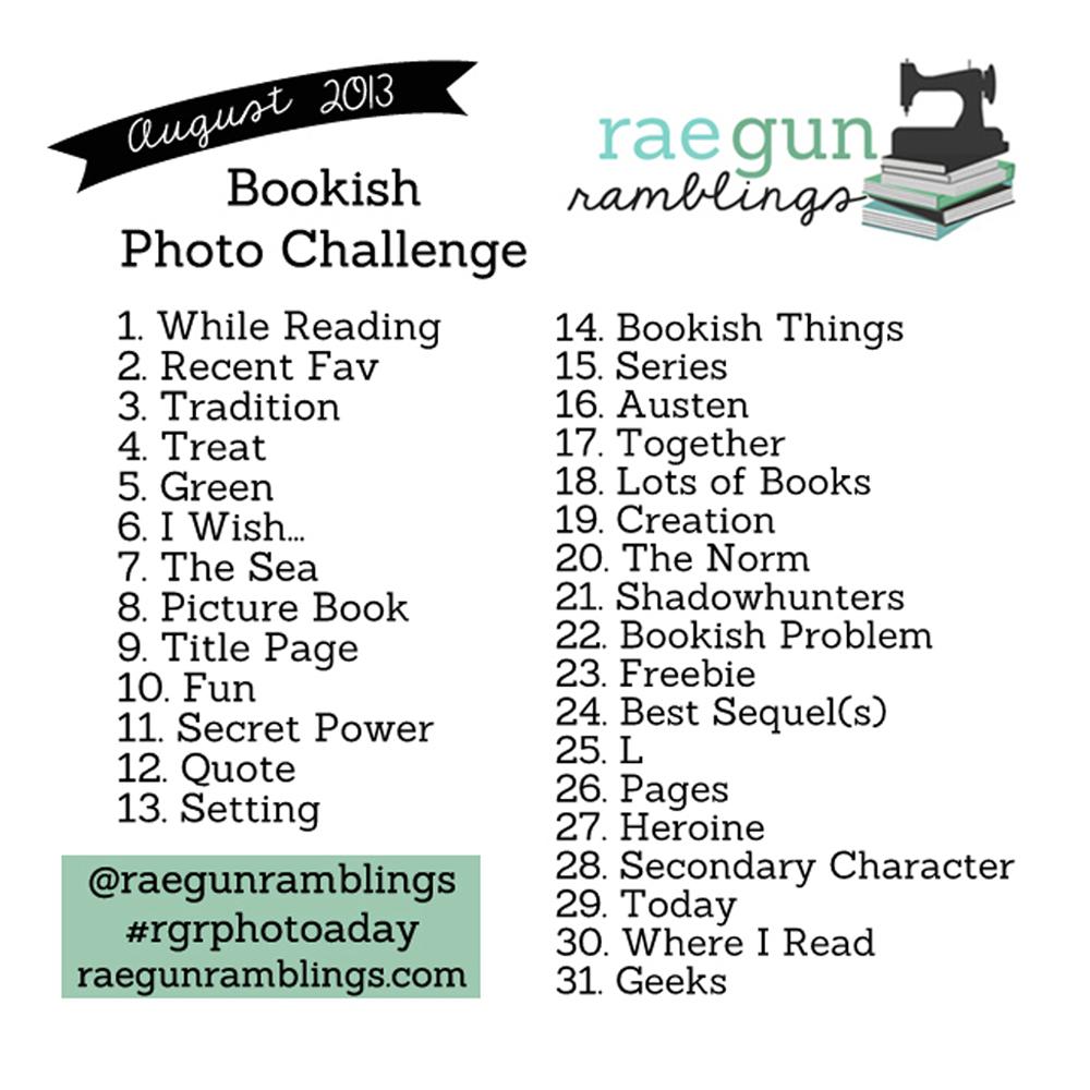 bookish photo challenge August 13