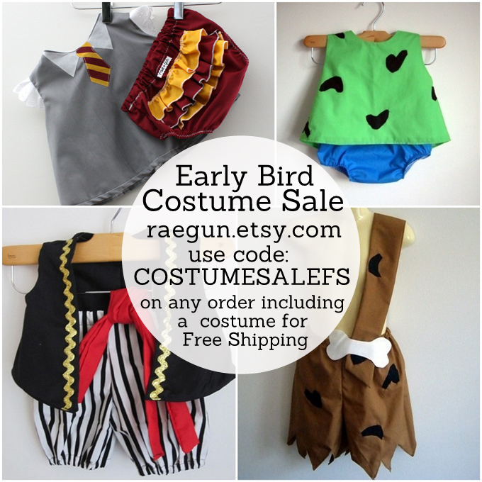 early bird costume sale raegun.etsy.com has the cutest costumes for babies and  sc 1 st  Rae Gun Ramblings : bam bam kids costume  - Germanpascual.Com