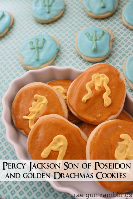 Make your own golden drachmas or son of poseidon cookies for your favorite #percyjackson fan - Rae Gun Ramblings