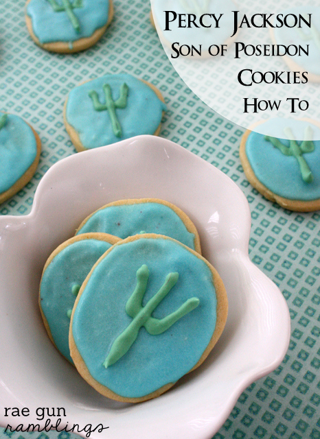 Percy Jackson Son of Poseidon cookie recipe and tutorial - Rae Gun Ramblings