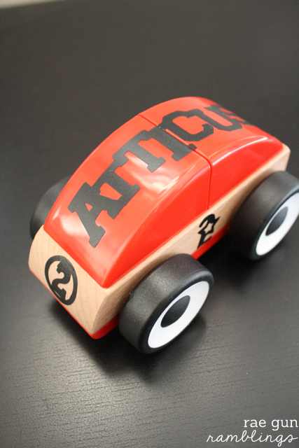 Quick and inexpensive boy gift idea. Personalized toy truck #tutorial #toy #boy - Rae gun Ramblings