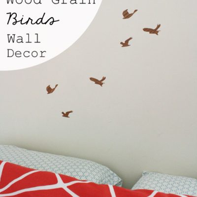 Wood Grain Birds Wall Decor & Point of View
