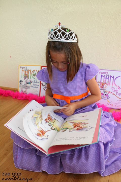 DIY Fancy Nancy dress. Full tutorial with how to make a pattern and detailed steps - Rae Gun Ramblings #fancynancy #halloween #costume #tutorial