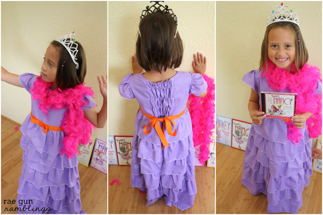 Step by step instructions for making a Fancy Nancy Costume - Rae Gun Ramblings #halloween #fancynancy #costume