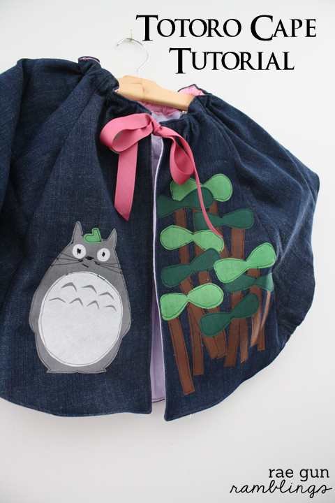 Make your own Totoro Cape - Rae Gun Ramblings #totoro #kawaii #anime #craft #tutorial