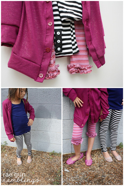 peekaboo patterns cardigan and leggins - Rae Gun Ramblings