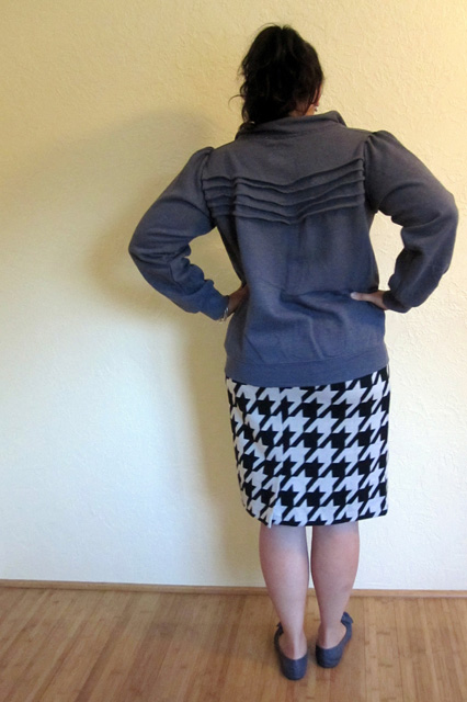 upcycle a normal zipper sweatshirt into a cute jacket #upcycle #fashion - Rae Gun Ramblings