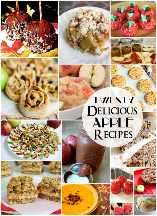 20 delicious apple recipes - Making the World Cuter #apples #recipes #fall