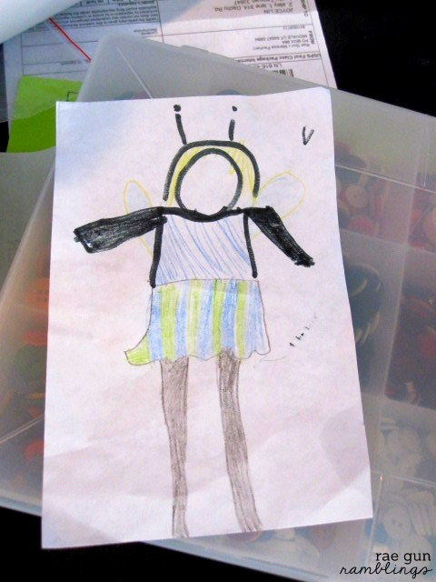 Kid's drawing turned into Butterfly costume - Rae Gun Ramblings