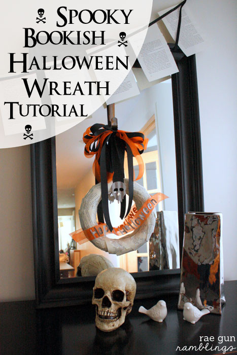Fun and easy Halloween wreat tutorial - Rae Gun Ramblings #diy #modpodge #craft #HalloweenMP