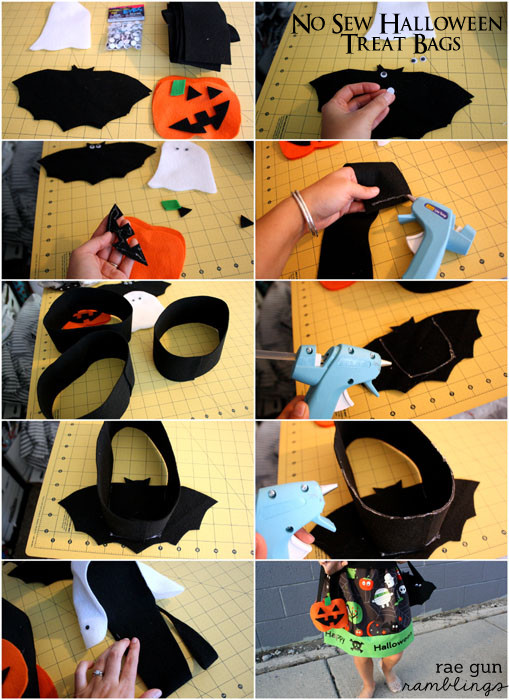 Halloween Bags halloween countdown 6 days 7 easy amp fun diy halloween bags No Sew Halloween Treat Bags Tutorial