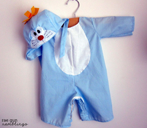 doraemon costume  and lots of tips for making your own Halloween costumes - Rae Gun Ramblings