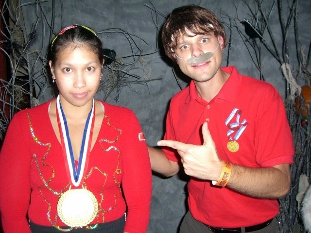Underage Chinese Gymanst and Bela Karolyi costumes and lots of handmade halloween costume tips - Rae Gun Ramblings