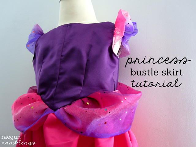 Princess dress bustle and tons of great tips on making your own great Halloween costumes without going crazy - Rae Gun Ramblings