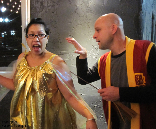 snitch and quidditch player costumes from Harry Potter - Rae Gun Ramblings