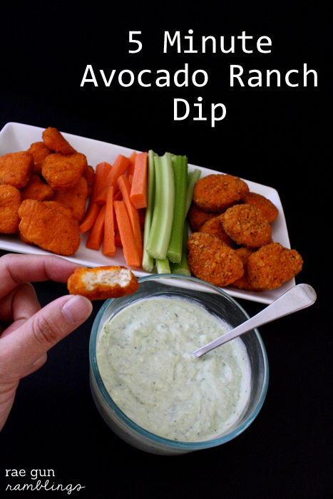 Avocado Ranch Dipping Sauce Recipe at Rae Gun Ramblings #LoveUrNuggets #cbias #ad