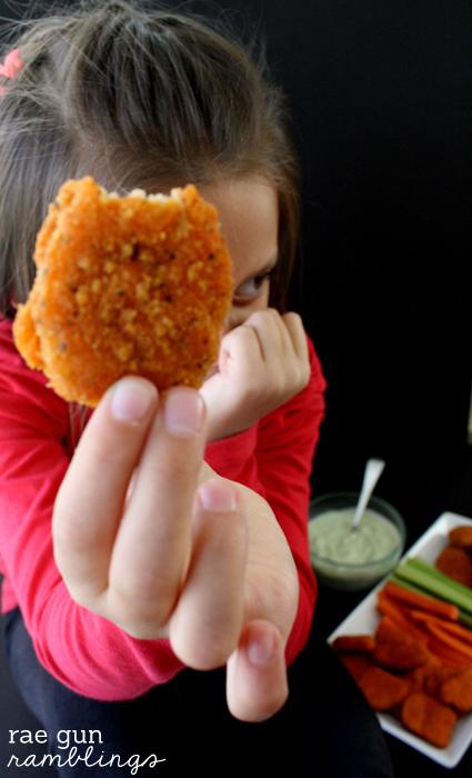 Spicy chicken nuggests and avocado ranch dipping sauce recipe at Rae Gun Ramblings #LoveUrNuggets #cbias #ad