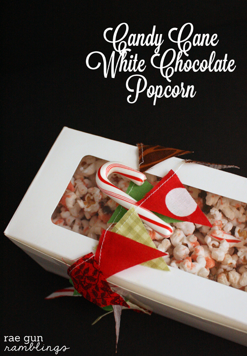 Easy Neighbor Gift Idea Candy Cane White Chocolate Popcorn Recipe - Rae Gun Ramblings