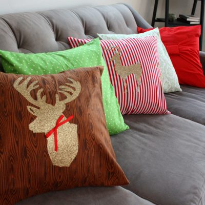 Two Christmas Deer Pillow Case Tutorials
