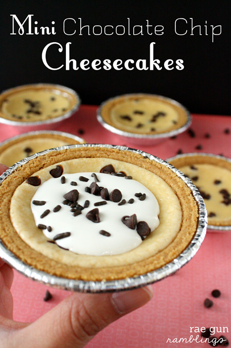 Mini Chocolate Chip Cheesecake Recipe - Rae Gun Ramblings