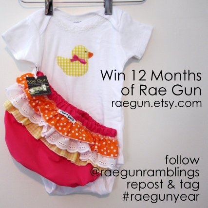 Thanksgiving Sale Info and Win Rae Gun Baby Clothes for a Year!