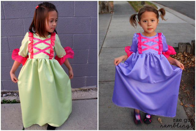 Anastasia and Drizella dresses at Rae Gun Ramblings #cinderella #costume