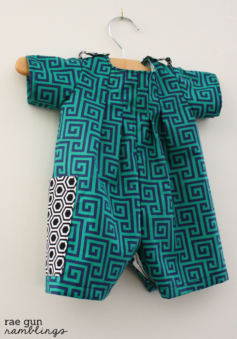 Baby boy outfit and how to make shoulder loops - Rae GUn Ramblings