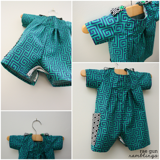 Cute outfit for a boy and shoulder detail tutorial - Rae Gun Ramblings