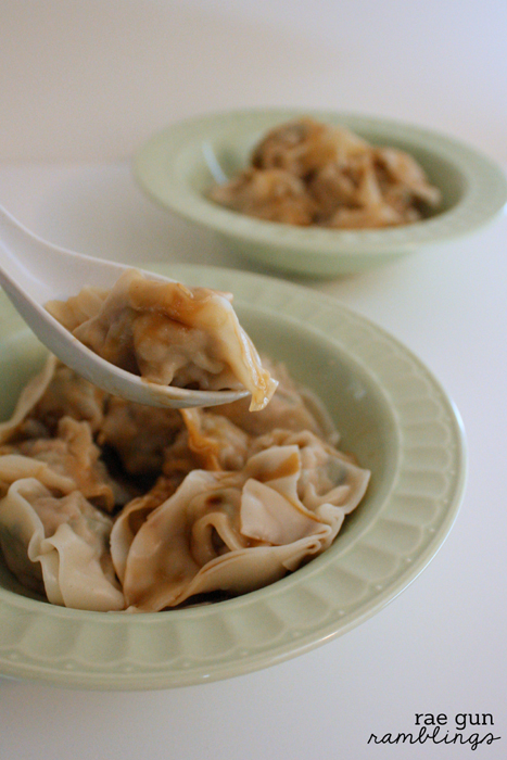 Homemade shrimp and pork wontons recipe - Rae Gun Ramblings