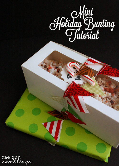Sew Amazing Giveaway $600 to JoAnns, Serger and Felting Machine (CLOSED) and Mini Holiday Bunting Tutorial