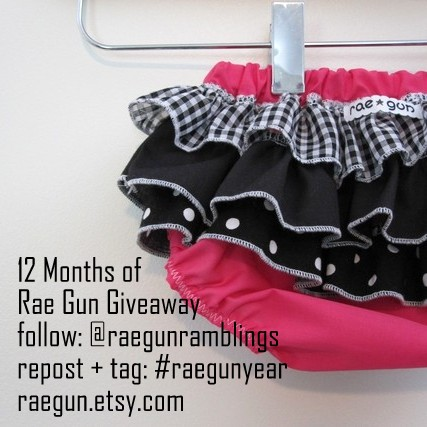 12 Months of Rae Gun Baby Clothes Giveaway - raegun.etsy.com