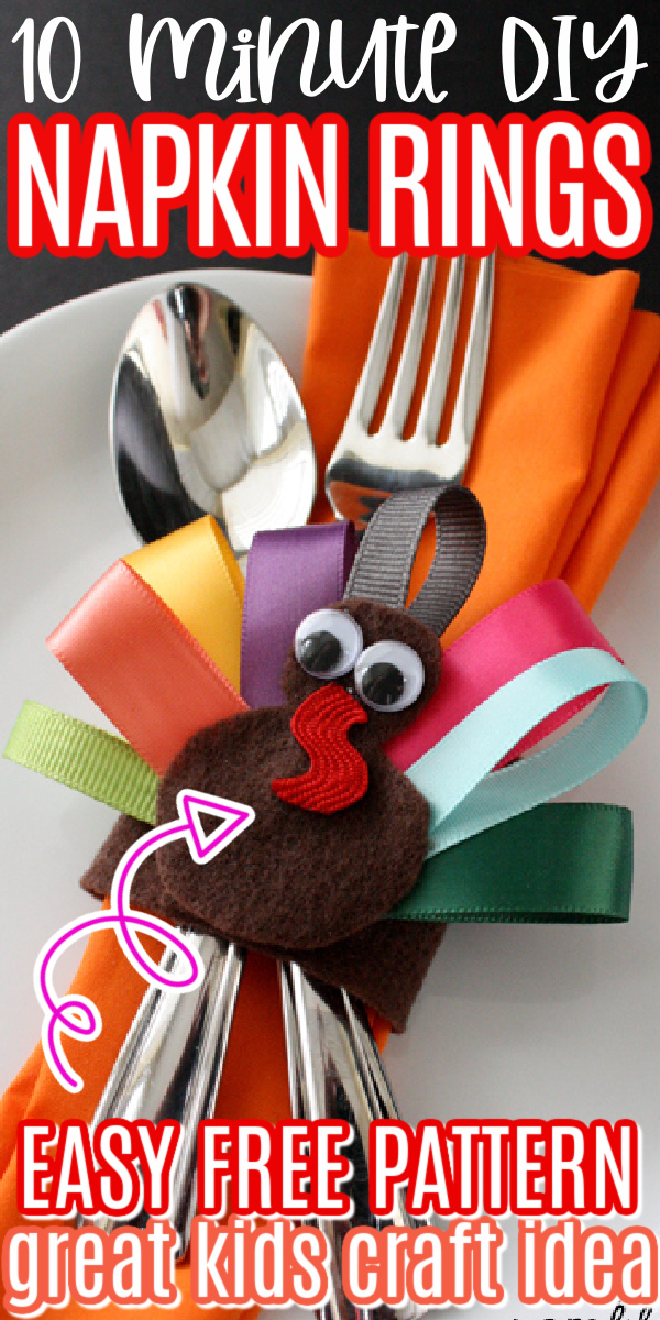Thanksgiving Ribbon Turkey Place Setting and Hair Clip great kids craft perfect for the holidays