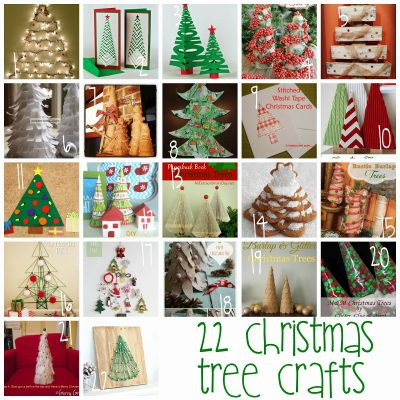 Block Party and 22 Christmas Tree Crafts