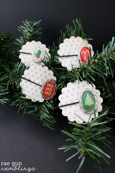 5 Minute Christmas Hair Pins at Rae Gun Ramblings